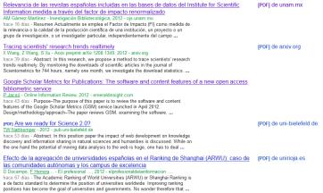 Sugerencias de Scholar Updates, como véis muy pertinentes